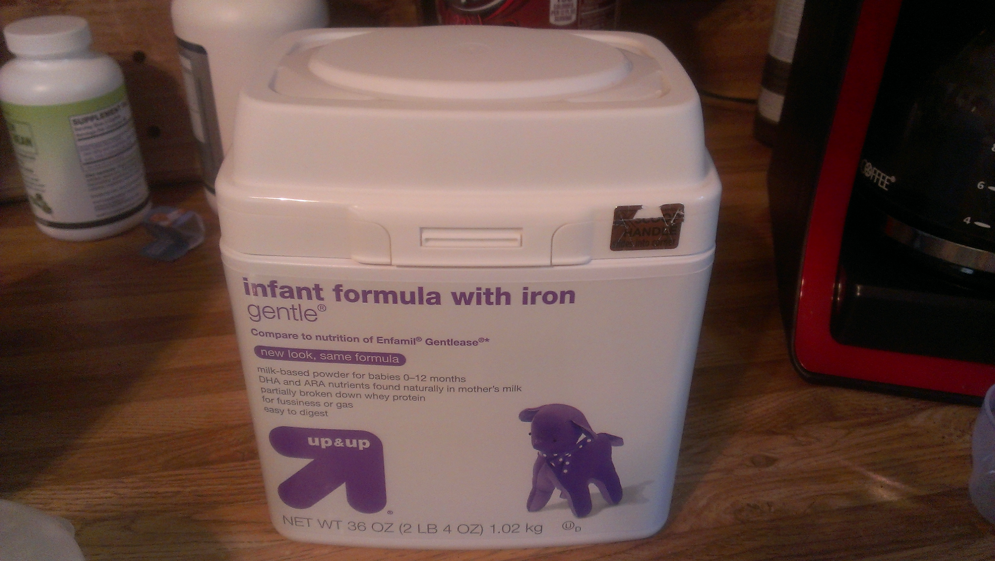 Up & Up gentle infant formula with iron